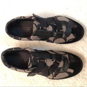 Coach Kyra Signature Velcro Sneakers Sz 8.5